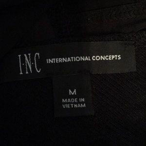 INC International Concepts Tops - INC Black V-neck Cross Top w/Velvet Accent sz M